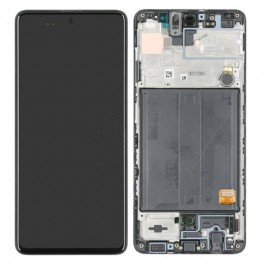 LCD Originale Service Pack Samsung A51 SM-A515 Black/Nero (GH82-21669A)