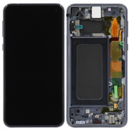 LCD Originale Service Pack Samsung S10E SM-G970 Black/Nero (GH82-18852A)